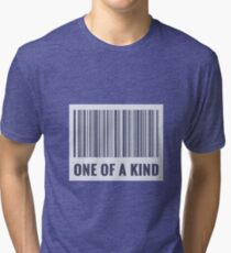 One of a kind barcode  Tri-blend T-Shirt