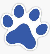 Blue dog or cat paw print Sticker