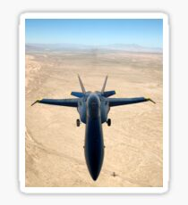A F/A-18A Hornet flys over the desert landscape of Imperial Valley. Sticker