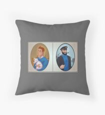 Tintin & Haddock portrait Throw Pillow
