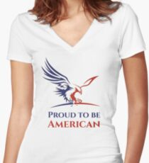Proud to be American Women's Fitted V-Neck T-Shirt