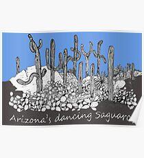 Dancing Saguaro Cactus Poster