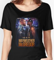 Mayweather V McGregor 26 Aug 2017 Women's Relaxed Fit T-Shirt