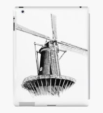Windmill old retro vintage drawing 01 iPad Case/Skin
