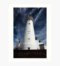Flamborough head Lighthouse, blue skies Art Print