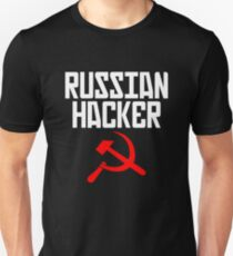 Russian Hacker T Shirt Hammer And Sickle Funny Sarcastic Unisex T-Shirt