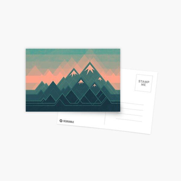 Geometric Mountains Postcard