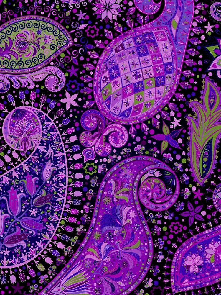 Boho Paisley Madness Var. 3 by rcurtiss000
