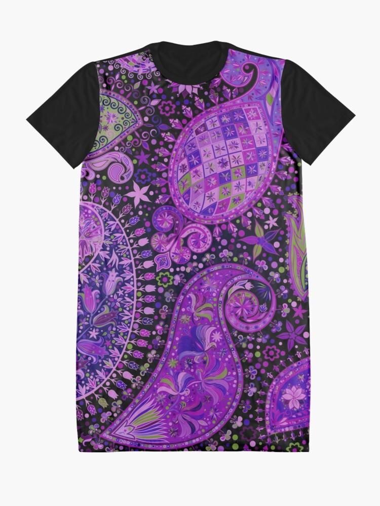 Alternate view of Boho Paisley Madness Var. 3 Graphic T-Shirt Dress