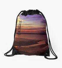 Humber Bridge Sunset Drawstring Bag