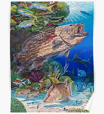 Grouper spearfishing Poster