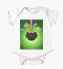 Old big pot with golden coins Kids Clothes