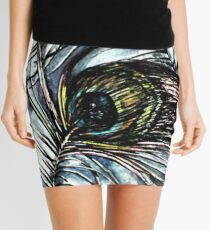 Peacock Abstract Mini Skirt