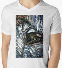 Peacock Abstract V-Neck T-Shirt