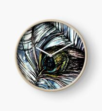 Peacock Abstract Clock