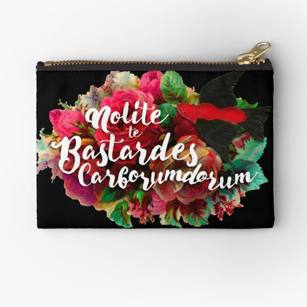 Don't Let the Bastards Grind You Down Zipper Pouch