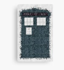 The Timey Wimey of The Doctor Canvas Print