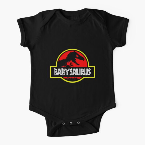 Babysaurus Rex - Funny Short Sleeve Baby One-Piece
