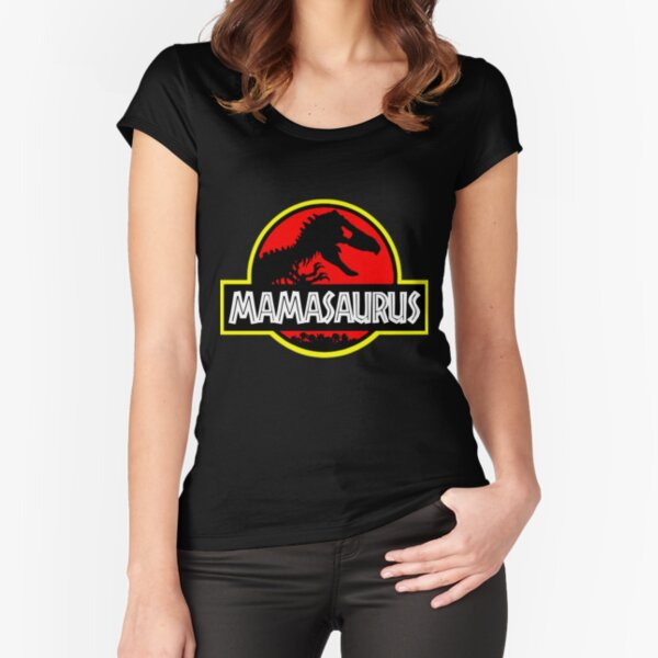 Mamasaurus Rex - Mothers Day Gift Funny Fitted Scoop T-Shirt