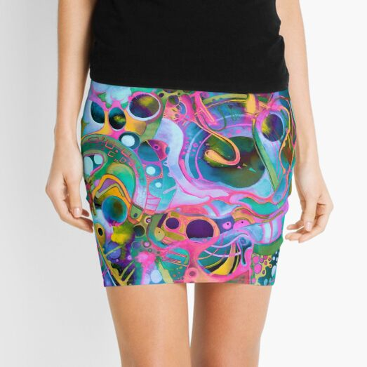 Starlight is Free (If You Live in Outer Space) - Watercolor Mini Skirt