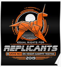 Equal Rights for Replicants Poster