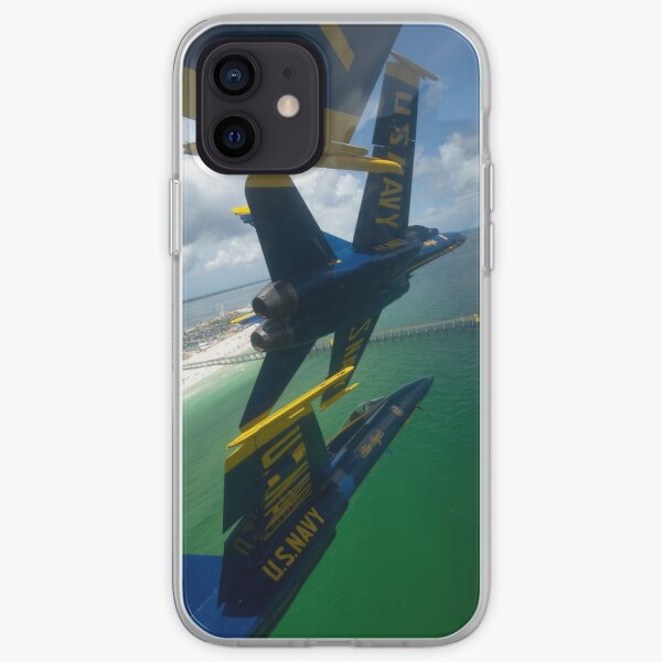 The Blue Angels perform the Diamond 360 maneuver over Florida. iPhone Soft Case