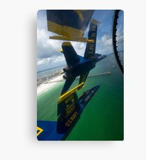 The Blue Angels perform the Diamond 360 maneuver over Florida. Canvas Print