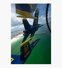 The Blue Angels perform the Diamond 360 maneuver over Florida. Photographic Print