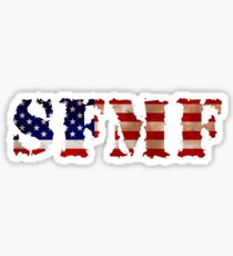 SFMF T Shirt US Marines USA Flag T-Shirt Sticker