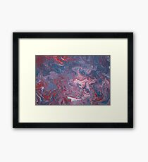 Acrylic Pouring Framed Print