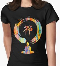 Watercolor, meditaion, zen, enlightment Womens Fitted T-Shirt