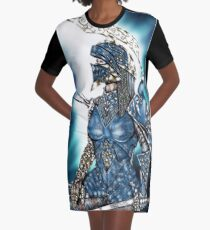 Knight Huntress Graphic T-Shirt Dress