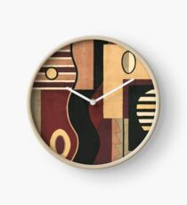 #107, ART, Abstract, Geometric, Contemp, BN,TN BK Clock