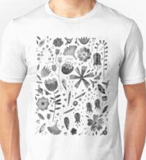 Inky Autumn Hedgerow Unisex T-Shirt