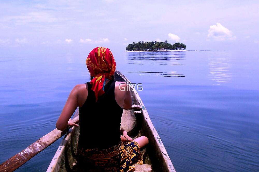 Ocean & canoe by Gil76