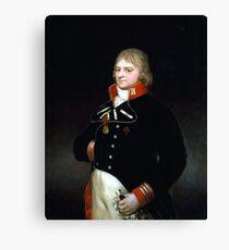 Goya Ignacio Garcini y Queralt, Brigadier of Engineers Canvas Print