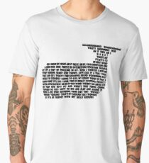 Hitchhikers Whale Quote Men's Premium T-Shirt