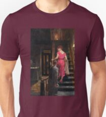 Vintage Couple on Stairs Hotel Bar T-Shirt