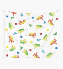 Waterguns & Water Balloons Pattern Wall Tapestry