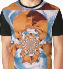 Psychedelic Mountain View Graphic T-Shirt