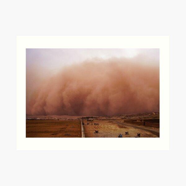 Sand storm in Afghanistan Art Print