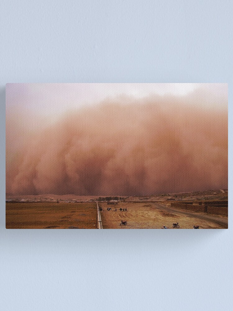 Alternate view of Sand storm in Afghanistan Canvas Print