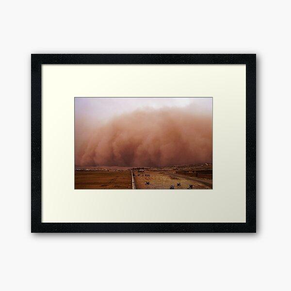 Sand storm in Afghanistan Framed Art Print