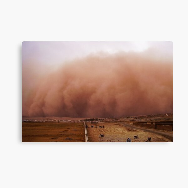 Sand storm in Afghanistan Canvas Print