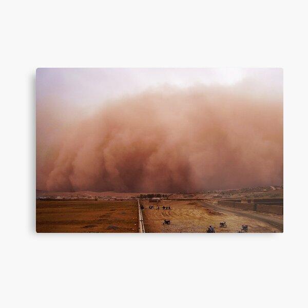 Sand storm in Afghanistan Metal Print