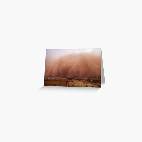 Sand storm in Afghanistan Greeting Card