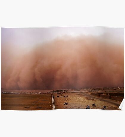 Sand storm in Afghanistan Poster