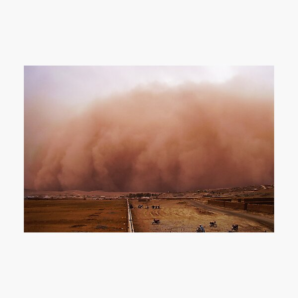 Sand storm in Afghanistan Photographic Print