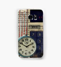 cool geeky nerdy alarm clock retro calculator  Samsung Galaxy Case/Skin