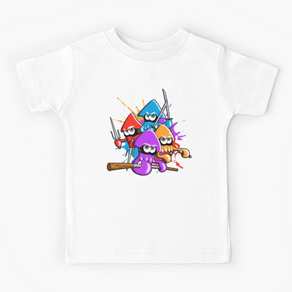 Teenage splatter ninja squids. Kids T-Shirt